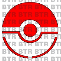 POKEMON GO-Red PokeBall Logo Decal