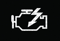 Check Engine Light Decal