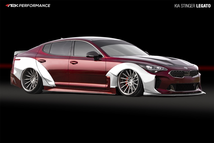 ARK Performance Kia Stinger | Legato Collection Fiberglass Wide Over Fenders (Full Kit)
