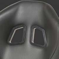 NRG Innovations RSC-204 PVC Leather Sport Seats Black w/ Black Trim (Sold as a Pair)