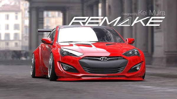 remake hyundai genesis coupe wide body kit by kei miura. Black Bedroom Furniture Sets. Home Design Ideas