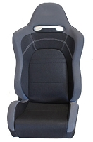 NRG Innovations RSC-101 EVO Style Cloth Sport Seat - Black (Sold as a Pair)