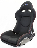 NRG Innovations Reclinable FRP Bucket Seat Silver
