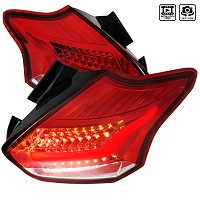 Spec D Taillights for 2015-2018 Focus ST / RS (Red)