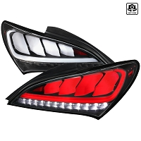 Spec D Tail lights For 2010-2016 Genesis Coupe (Black)