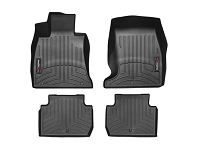WeatherTech 2018+ Kia Stinger Front and Rear FloorLiner - Black (RWD model)