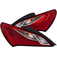 Anzo Tail lights for 2010-2016  Hyundai Genesis Coupe (Red/Clear)