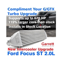 Garrett Intercooler upgrade for 2012+ Ford Focus ST 2.0L Ecoboost