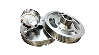 ISR Performance Aluminum Pulley Kit - Hyundai Genesis Coupe 2.0T - Silver