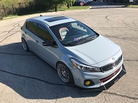 Aerotekk Track Side Splitters for 14-18 Kia Forte Hatchback