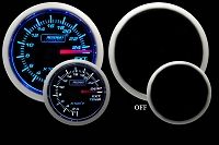 Prosport Gauges Fuel Pressure Gauge (Electric)  Blue/White 52mm