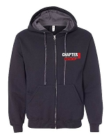 Chapter 11 Classic Style Heavyweight Zip Up Hoodie (F/R Graphics)