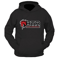 BTR Triple Layer Horse Logo Pullover Hoodie (Front Graphics Only)