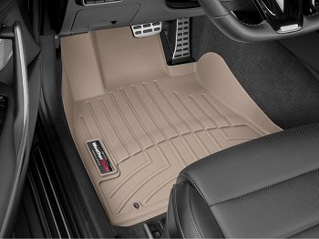 WeatherTech 2018+ Kia Stinger Front FloorLiner - Tan (RWD model)