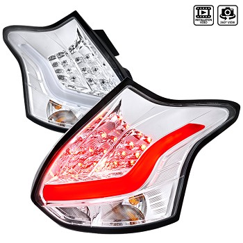 Spec D Taillights for 2013-14 Ford Focus ST (Chrome)