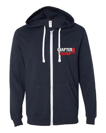 Chapter 11 Classic Style Lightweight Zip Up Hoodie  (F/R Graphics)