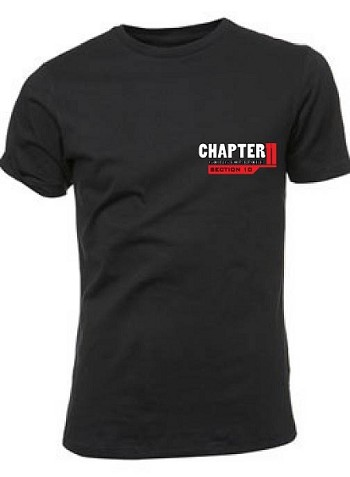 Chapter 11 Classic Style Personalized T-Shirt (F/R Graphics)