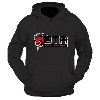 BTR Triple Layer Horse Logo Pullover Hoodie F/R Graphics Version
