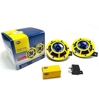 Hella Sharptone Horn Kit 12V 415/350Hz Yellow