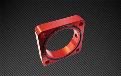 Torque Solution Throttle Body Spacer 2013+ Subaru BRZ/Scion FR-S - Red