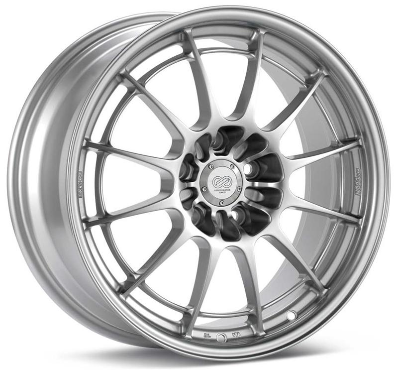 Enkei Wheel NT03+M 18x9.5 40mm Offset 72.6mm Bore F1 Silver Wheel for Focus ST/RS (5x108) set