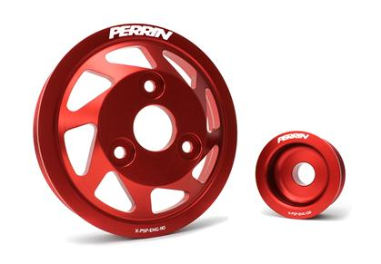 Perrin 13-14 Subaru/Scion BRZ/FR-S Water Pump and Alternator Accessory Pulley Kit - Red