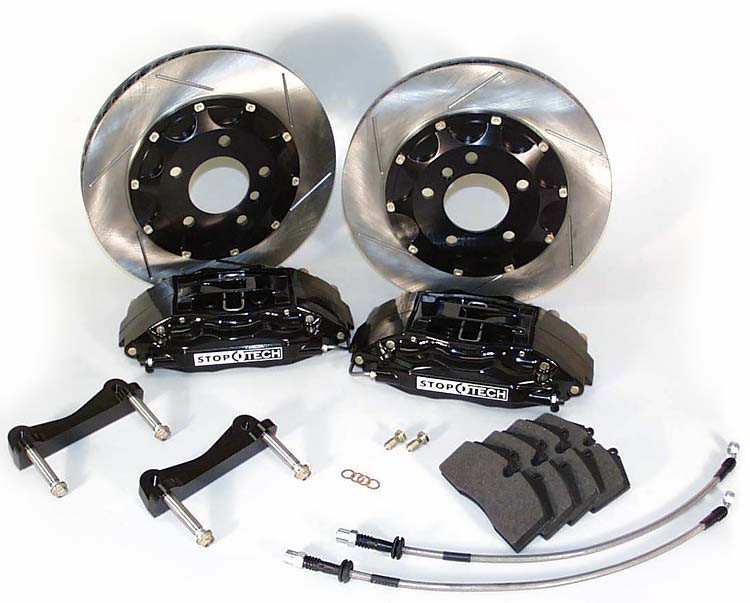 StopTech 13-14 Ford Focus ST Front BBK w/Black ST-40 Calipers 332mm Slotted Rotors