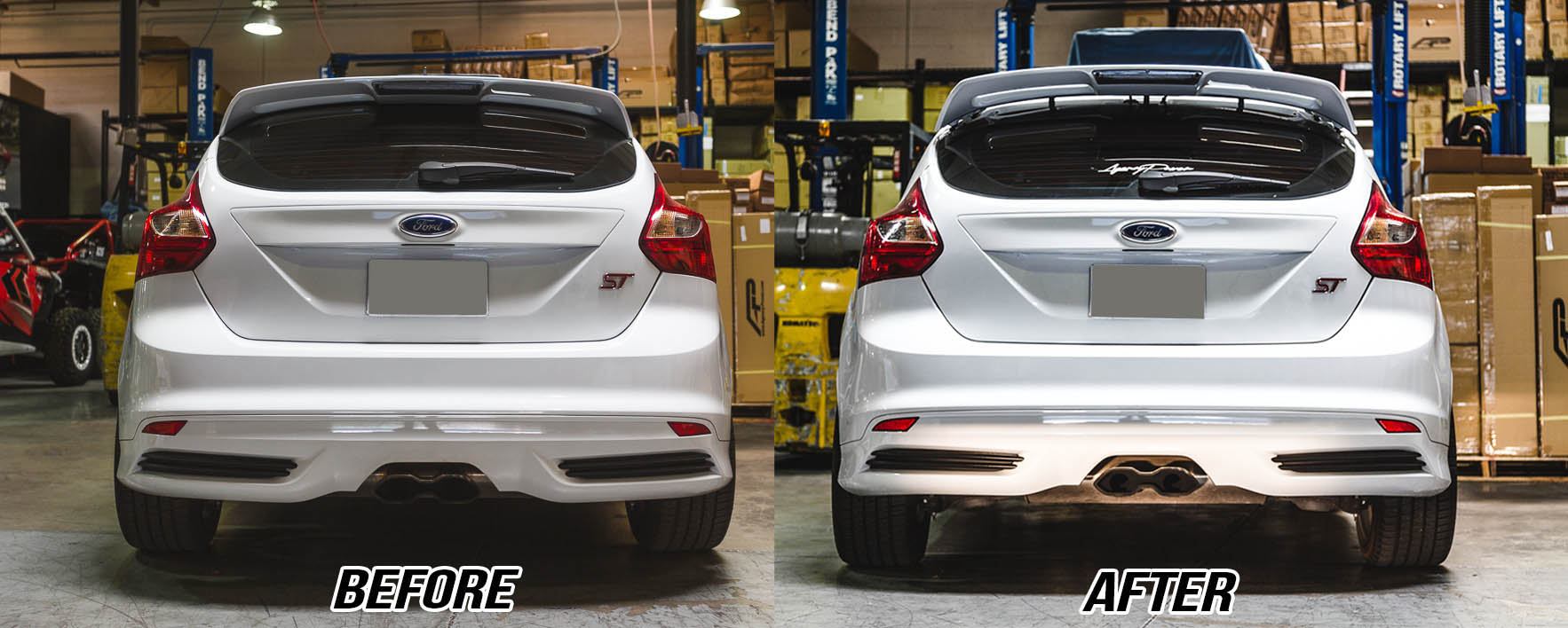 Agency Rear Spoiler Risers Ford Focus Rs St Touch To Zoom