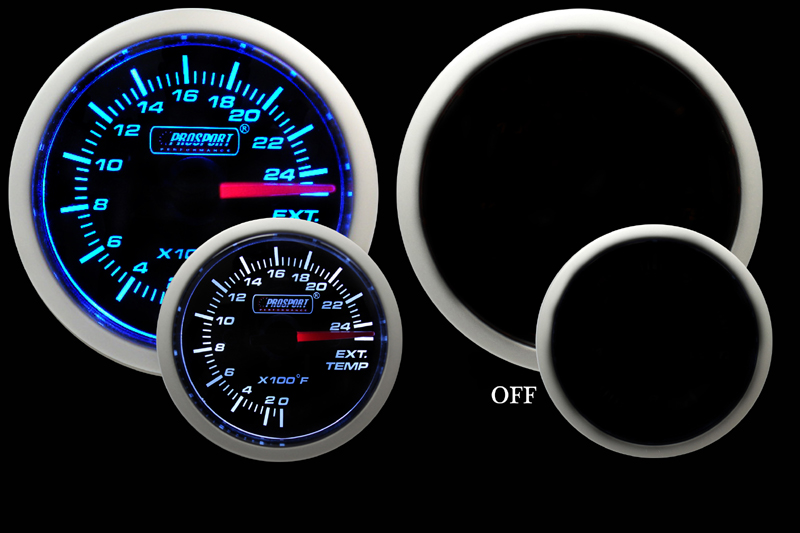 Prosport Gauges Exhaust Gas Temperature -Blue/White 52mm