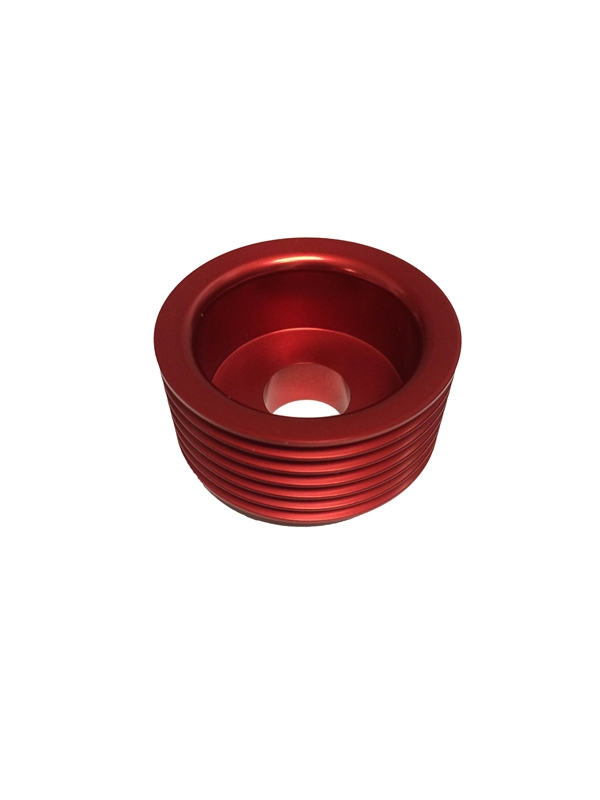 Torque Solution Lightweight Alternator Pulley (Red): Hyundai Genesis Coupe 3.8 2010+