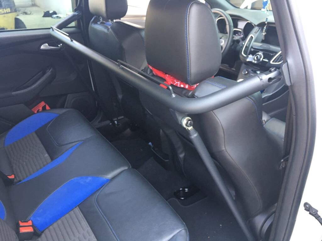 2013-2019 FORD FOCUS CIPHER RACING BLACK COATING HARNESS BAR 50+