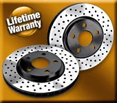 BP Cross Drilled Front Brake Rotors for 2013+ Hyundai Veloster Turbo (Set of 2)