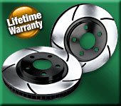 BP Slotted Front Brake Rotors for 2010+ Hyundai Genesis Coupe NON-Brembo Brakes (Set of 2)