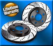 BP Cross-Drilled and Slotted Front Brake Rotors for 2013+ Hyundai Veloster Turbo (Set of 2)