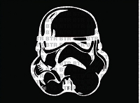 STAR WARS-Storm Trooper Mask Decal