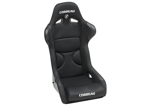 Corbeau FX1 Pro Seats Fixed Back in Black Cloth