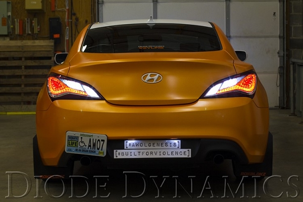 2013-2015 Hyundai Genesis Coupe Tail as Turn  +Backup Module