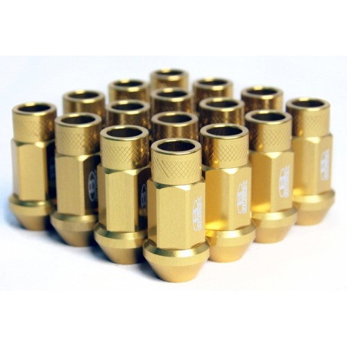 BLOX Racing Street Series Forged Lug Nuts - Gold 12 x 1.25mm - Set of 20
