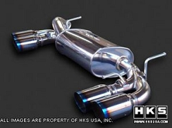 HKS Legamax Axle-Back Exhaust for Genesis Coupe 3.8
