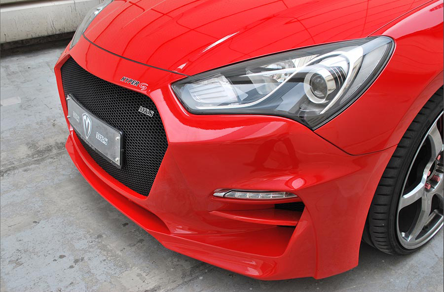 M&S Front Body Kit Bumper HYPER G Type B for 2013-16 Genesis Coupe