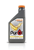 Purol Elite Synthetic Motor Oil 20W50 (works for 15w50 engines)