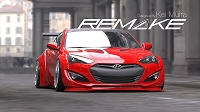 REMAKE Hyundai Genesis Coupe Wide Body Kit by Kei Miura FENDER FLARES only