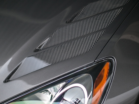 RK Sport Genesis Coupe 2013-2015 Fiberglass Hood with Carbon Fiber Inlays