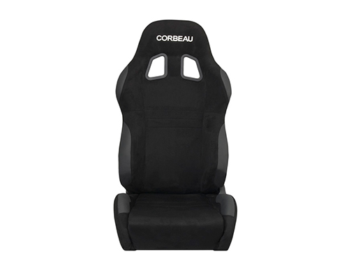 Corbeau A4 Racing Seat Black Microseude Wide