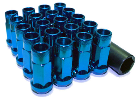 Wheel Mate Muteki SR48 Open End Lug Nuts - Blue 12x1.25 48mm