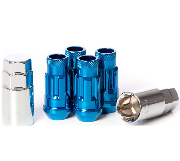 Wheel Mate Muteki SR48 Open End Locking Lug Nut Set of 4 - Blue 12x1.25 48mm