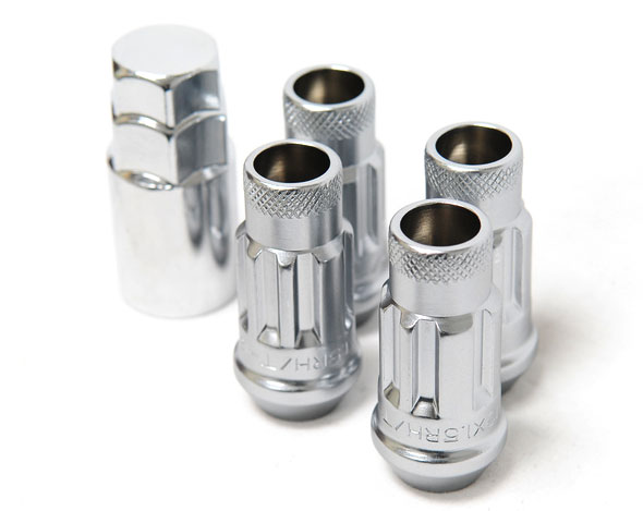 Wheel Mate Muteki SR48 Open End Locking Lug Nut Set of 4 - Silver 12x1.50 48mm