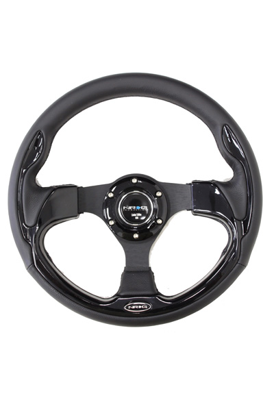 320mm Sport Leather Steering Wheel with Black Inserts