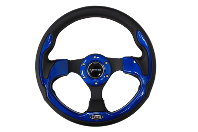 320mm Sport Leather Steering Wheel with Blue Inserts