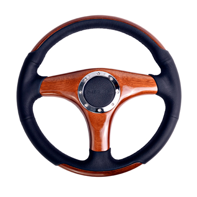 Classic Wood Grain Wheel, 350mm, 3 spoke center in wood